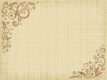 Bloemen af:drukken canvasachtergrond Stock Fotografie