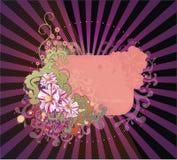 Bloemen affiche Stock Afbeelding