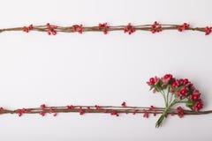 Bloemen als decoratiebehang Stock Afbeelding