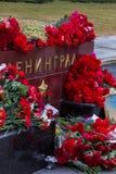 Bloemen als teken van het rouwen voor de doden Stock Foto's