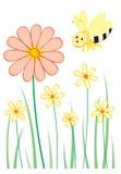 Bloemen & bij Stock Foto's