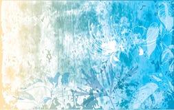 Bloemen & grunge achtergrond Royalty-vrije Stock Afbeelding