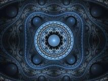 Bloemen arabesque 3D fractal stock illustratie