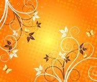 Bloemen artistiek vectorontwerp stock illustratie