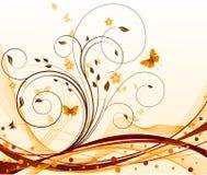 Bloemen artistieke achtergrond. Stock Foto's