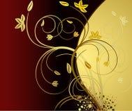 Bloemen artistieke vectorachtergrond royalty-vrije illustratie
