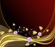 Bloemen artistieke vectorachtergrond Stock Foto's