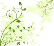 Bloemen artistieke vectorontwerpachtergrond royalty-vrije illustratie