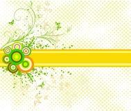 Bloemen artistieke vectorontwerpachtergrond Stock Fotografie