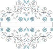 Bloemen banner Royalty-vrije Illustratie