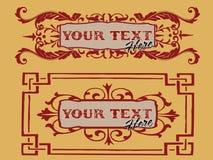 Bloemen banner Royalty-vrije Stock Fotografie