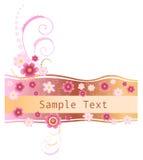 Bloemen banner Stock Afbeelding