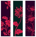 Bloemen banners Stock Afbeelding