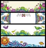 Bloemen banners (bloemenreeks) Royalty-vrije Stock Afbeelding