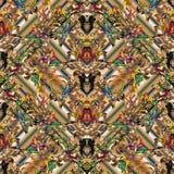 Bloemen barok naadloos patroon Gestreepte ornamenten vector illustratie