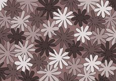 Bloemen behang Royalty-vrije Stock Foto