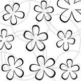 Bloemen behang Royalty-vrije Stock Afbeeldingen
