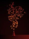 Bloemen bemerkte wierook Stock Afbeelding