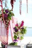 Bloemen bij het huwelijk Stock Afbeelding