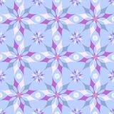 Bloemen blauw patroon Stock Foto's