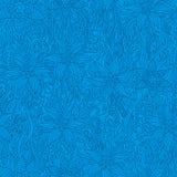 Bloemen blauwe achtergrond Stock Afbeeldingen