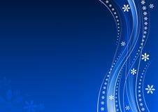 Bloemen blauwe achtergrond stock illustratie
