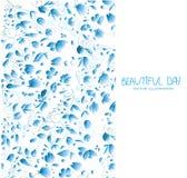 bloemen in blauwe tonen Royalty-vrije Stock Afbeelding