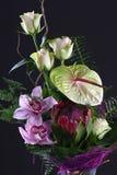 Bloemen boeket met rozen Stock Afbeelding