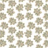 Bloemen Boheems bloemenpatroon: op witte achtergrond royalty-vrije stock foto's
