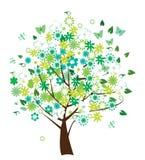Bloemen boom Stock Illustratie