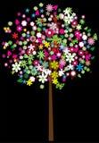 Bloemen boom Royalty-vrije Illustratie