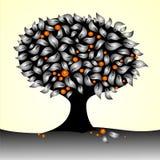 Bloemen boomachtergrond Stock Afbeeldingen