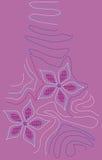 Bloemen borduurwerkontwerp Stock Afbeeldingen