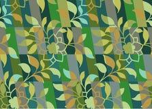Bloemen camouflagepatroon Stock Afbeelding