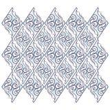 Bloemen curvy fractal geometrisch borduurwerk naadloos patroon stock illustratie