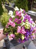 Bloemen in de begraafplaats Royalty-vrije Stock Afbeeldingen