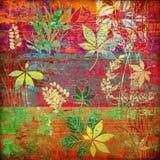 Bloemen de herfstachtergrond van de kunst Stock Afbeeldingen