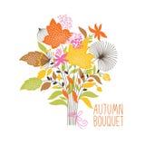 Bloemen de herfstboeket Stock Foto's
