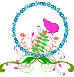 Bloemen de lente ovale grens Royalty-vrije Stock Fotografie