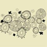 Bloemen de tekeningsachtergrond van de kunst vector illustratie