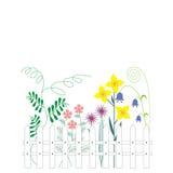 Bloemen in de tuin vector illustratie