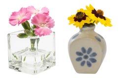 Bloemen in de vaas Stock Foto