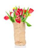 Bloemen in de zak Stock Foto