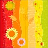 bloemen de zomerachtergrond Royalty-vrije Stock Foto