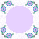 Bloemen decoratief kader met plaats voor tekst Stock Foto's