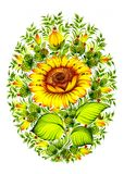 Bloemen decoratief ornament Royalty-vrije Stock Foto
