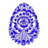 Bloemen decoratief ornamentpaasei Stock Afbeeldingen