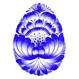 Bloemen decoratief ornamentpaasei Stock Afbeelding