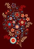 Bloemen decoratief patroon Stock Foto's