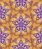 Bloemen decoratief patroon Royalty-vrije Stock Fotografie